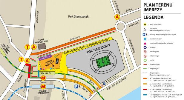 Plan terenu imprezy Urząd Miasta