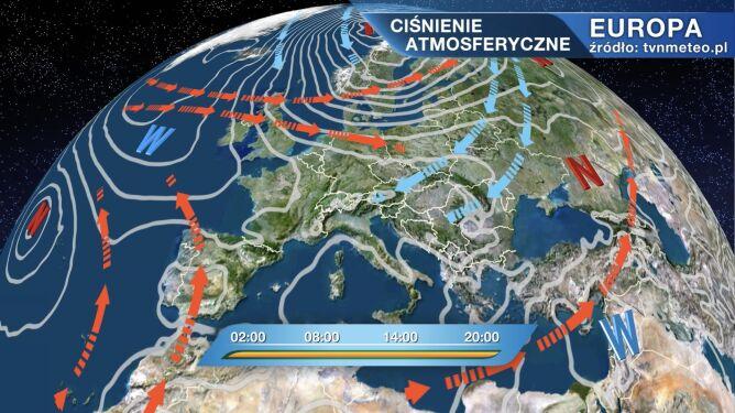 Wyż Odette kształtuje pogodę w Polsce