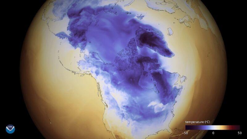 Burza Śnieżna w Stanach Zjednoczonych (PAP/EPA/NOAA / HANDOUT)