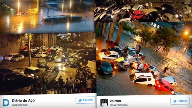 Sceny jak z katastroficznego filmu, <br />a padało tylko godzinę