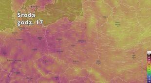 Temperatura w najbliższych dniach (ventusky.com   wideo bez dźwięku)